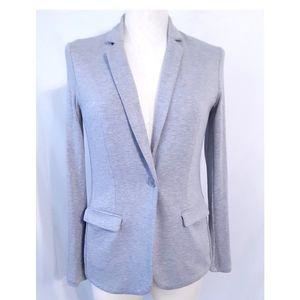 Magaschoni Soft Knit Gray Blazer Jacket
